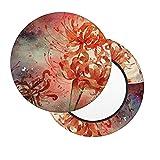 Funda para Taburete Redondo 33cm,Diseño de 3 Capas Funda de Cojín de Asiento, Práctico Lavable Protector de Silla Redondo Suave (Mariposas Florales)
