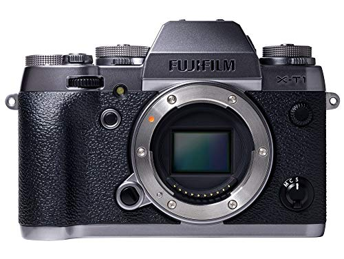 Fujifilm X-T1 16 MP Mirrorless Digital Camera with 3.0-Inch LCD (Body Only) (Graphite Silver & Weather Resistant) (Renewed)
