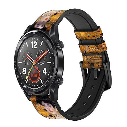Innovedesire Gustav Klimt Adele Bloch Bauer Correa de Reloj Inteligente de Cuero y Silicona para Wristwatch Smartwatch Smart Watch Tamaño (20mm)