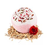 Bath Bomb,Rose Smell Handmade Bubble Bath Bomb Gift, Moisturizes Dry Sensitive Skin Perfect for Bubble & Spa Bath, Best Birthday Gift for Women, Mothers Day for her
