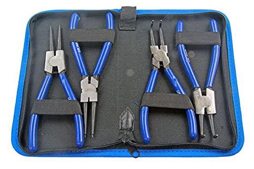 Bergen US Pro Professional B2064 Lot de 4 pinces à circlips internes et externes 17,8 cm