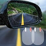 Afocuz Compact 4xCar Rear View Mirror Protective Film for Anti Water Mist Anti-Fog Anti-Glare Waterproof Membrane