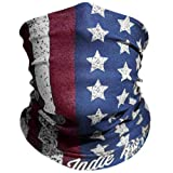 American Flag Outdoor Motorcycle Mask 'Old Glory' By Indie Ridge - Ski Snowboard Mask Microfiber Multifunctional Seamless Headwear