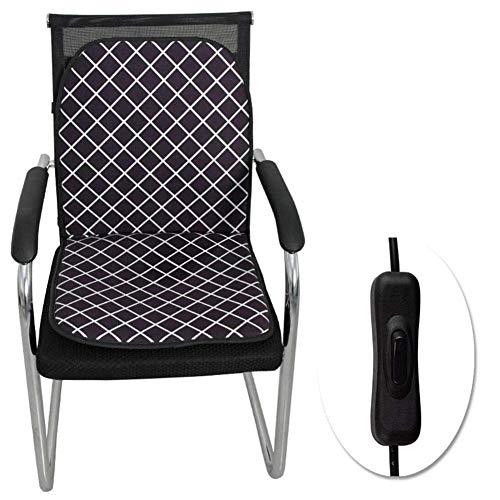 FDCVF Verwarmd zitkussen, draagbaar, warm, warm zitkussen, bevordert de doorbloeding, vermoeidheid voor thuis, kantoor, 93 x 45 cm