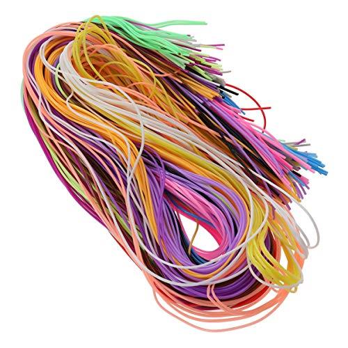 HEALLILY Schnürung Schnur Scoubidou String Handwerk Gimp String für Freundschaft Armbänder Schmuck Machen DIY Handwerk 0 Farben 200pcs