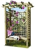 Gartenlaube mit Gartenbank
