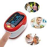 FOONEE Oxímetro de Pulso, oxímetro de Dedo, Monitor de saturación de oxígeno en Sangre, gráfico de Barras y Pantalla de Forma de Onda de Pulso, certificación FDA, con cordón para Neonatal y niños