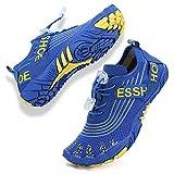 Rokiemen Zapatos de Agua para Niños Secado Rápido Antideslizante Zapatillas de Playa Piscina Natación Calzado Surf Buceo Snorkel Azul 34 EU
