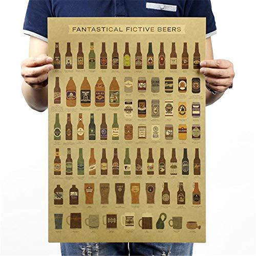 Csheng Posters Peliculas, Retro Estilo Antiguo Póster De La Pared No-Pegajoso Vintage Bricolaje Decoración Arte Nostálgico Cartel-51.5X36cm 02