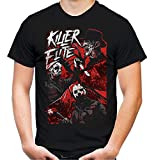 Killer Elite Freddy Michael Myers Jason Voorhees - Camiseta para hombre y mujer Negro M