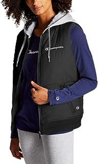 Champion Womens Stadium Hooded Puffer Jacket - Black XXL