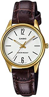 Casio Women's Dial Leather Band Watch - LTP-V005GL-7BUDF