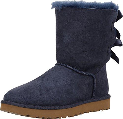 UGG Australien Bailey Bow Stiefel für Damen, Marineblau, 43,5 EU