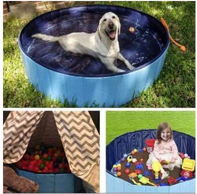 Petyoung 47 * 11. 8 Zoll Faltbarer Pool Kinder Haustier Badewanne Zusammenklappbare Badewanne für Hunde Katzen Kinder