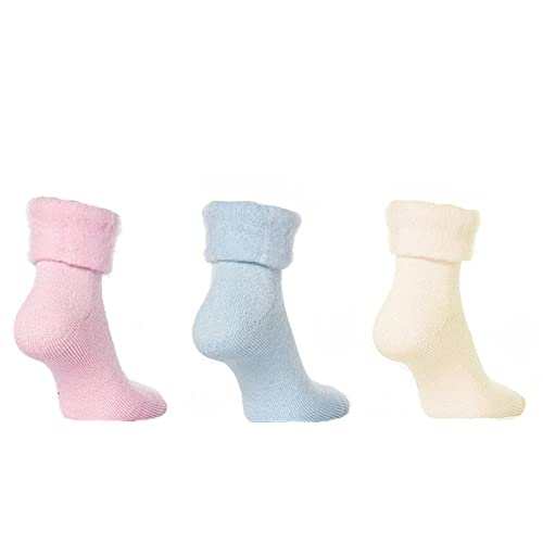 Ladies Brushed Thermal SOFT-EEZ Bed Socks Soft Warm Colours Cozy Lounge Sox