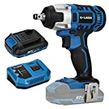 G LAXIA Cordless Impact Wrench,20V Max Electric Impact Wrench with 220 Nm Max Torque, 3300 Max IPM, 2600 RPM, 1/2 Inch Anvil; 2.0 Ah Battery, Fast Charger Included for Loosening or Tightening Bolts