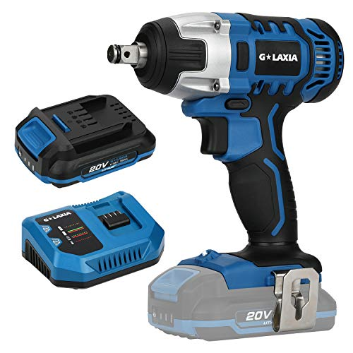 G LAXIA Cordless Impact Wrench,20V Max Electric Impact Wrench with 220 Nm Max Torque, 3300 Max IPM,...