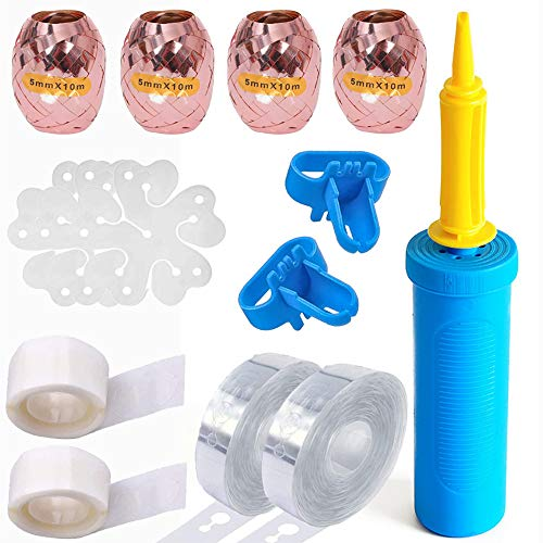 Vicor Balloon Kit,Balloon Arch Garland Kit,Balloon Ribbon,Balloon Arch Tape and Dots for Birthday Party,Wedding,Baby Shower Decoration