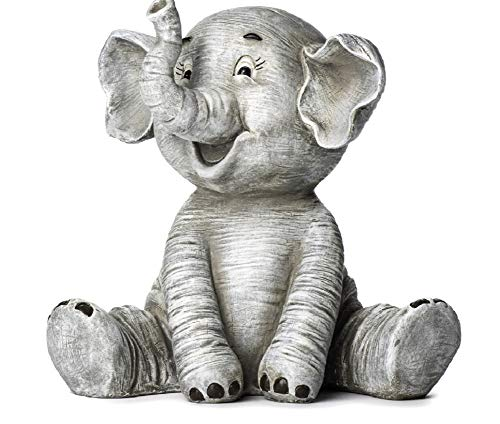 "Roman Inc. 8.6"" High Elephant Garden Statue"