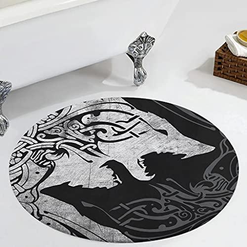 Veryday Alfombra redonda decorativa para el salón, como felpudo para la puerta, para la habitación de los niños, color blanco, 60 cm