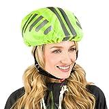 Protecticure Hochwertiger Helmüberzug für den Fahrradhelm - Regenschutz 360° Rund-Um-Reflektoren...