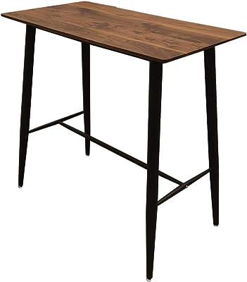 THE HOME DECO FACTORY HD6441 Table Mange Debout Imitation Bois, MDF, Marron, 115 x 102 x 60 cm