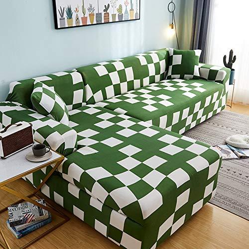 Fundas de sofá de Esquina en Forma de L para Sala de Estar, Fundas de sofá, sofá seccional elástico elástico, sofá Cubre A14, 1 Plaza