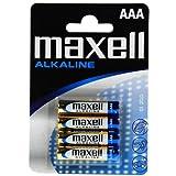 Maxell LR03-B4MXL - Pila alcalina AAA, 1.5V, pack de 4 unidades