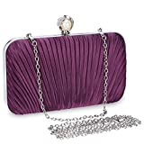 Selighting Bolsa de Noche Mujer Bolso de Mano Bolso Clutch de Embrague Monedero para Mujeres y Señoras para Boda Partido Fiesta Cumpleaños (Morado-Style2)