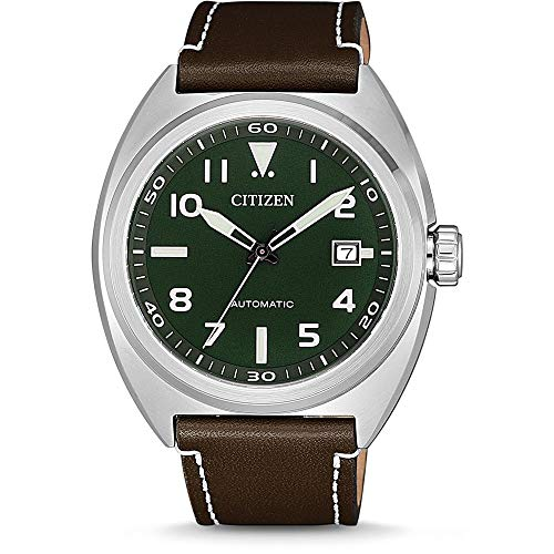 Citizen Men's Analogue Automatic Watch with Leather Strap NJ0100-38X