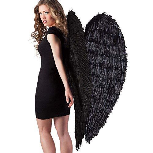 Boland 52817 - alas de plumas de ángel negro, 120 x 120 cm