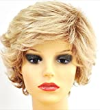 Forever Young Ladies Short Light and Ash Blonde Mix Lifting Fashion Wig with Rolling Curls by Forever Young