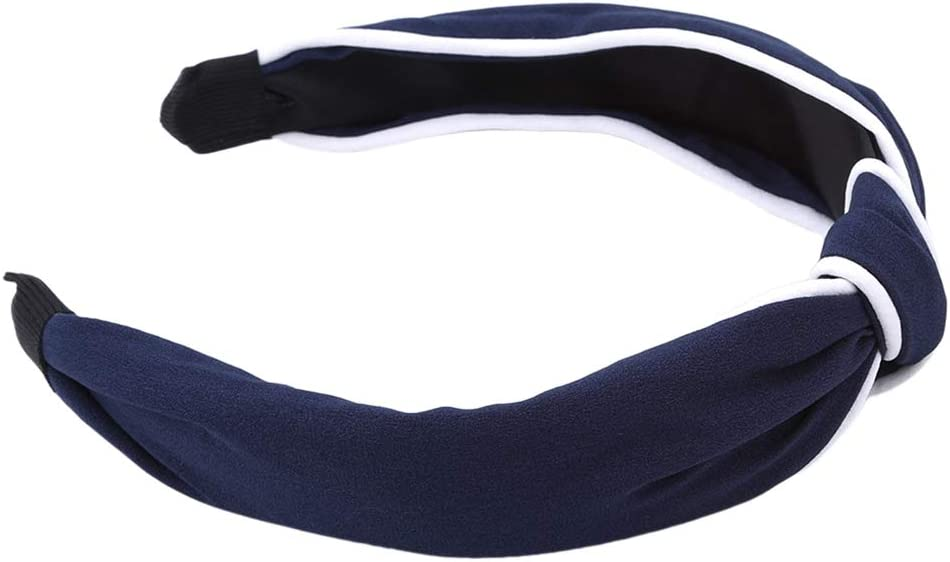 Modsnde Women's Headbands Twist Knot Turban Wide Plain Hair Hoop Fashion Yoga Headbands for Women Girls Headwear Hair Accessories