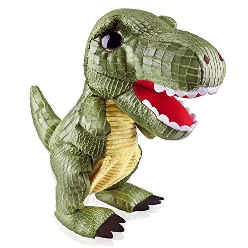 Marsjoy Green Walking Dinosaur Robot Electronic Dino Rex Toy Interactive Stuffed Dinosaur Toy Plush Stuffed Animal Dinosaur Jurassic Tyrannosaurus Toy for Boys & Girls Kids or Toddlers Aged 3+