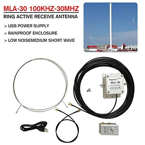 TXYFYP MLA-30 Lang Range Direktionale Ösen Antenne Lang Line Antenne, Aktiv M Welle Kurz Welle Radio Antenne Innen SMA Sw Antenne - Schwarz, Free Size