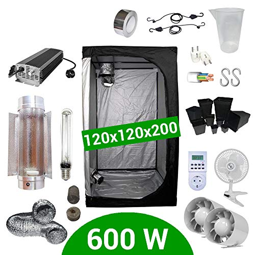 Kit de cultivo interior 600W SHP Cooltube Protube - Armario 120x120x20