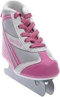 Lake Placid Girls Star Glide Double Runner Ice Skate Pink/Grey