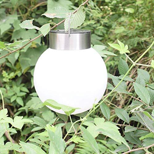 LED Kugel Solar Rotatable Leuchte Hängeleuchte, IP65 Waterproof, Garten Deko Solarleuchte Gartenleuchte Hängelampe Weiß für Outdoor Garden Camping Hanging