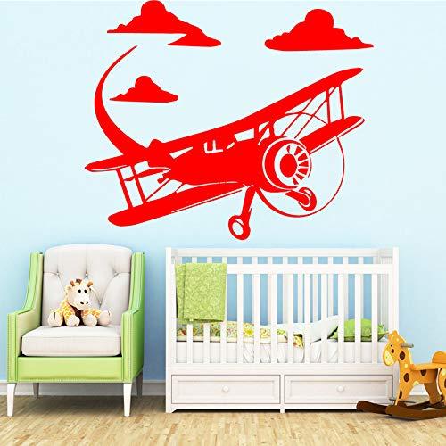 Tianpengyuanshuai grappige vliegtuig muursticker woonkamer kunst wandbehang kinderkamer decoratie