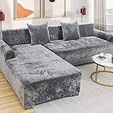 Love House Velvet Plüsch Schonbezug Sofa, Stretch Sofa