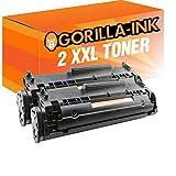 Gorilla-Ink 2 Cartuchos de tóner Compatible con HP Q2612A 12A Black | para HP Laserjet 3020/3020 AIO / 3030/3030 AIO / 3050/3050 Z / 3052/3055 / M 1005 MFP/M 1319 F MFP