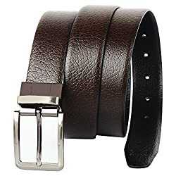 CREATURE Mens Genuine Leather Brown Belt(Colour-Black/Brown||Italian Leather||E-002||REVERSIBLE)