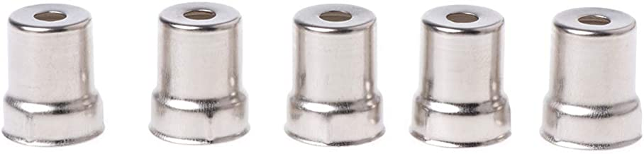 jiheousty 5 Piezas/Juego Tapa de Acero Horno de microondas Reemplazo Agujero Redondo Magnetrón Tono Plateado