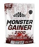 Carbohidratos MONSTER GAINER 2200 - Suplementos Alimentación y Suplementos Deportivos - Vitobest (Chocolate, 1,5 Kg)