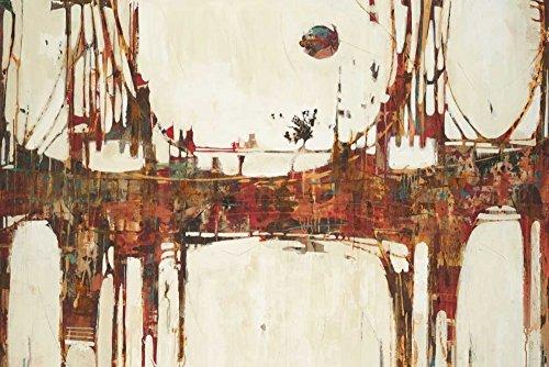 Feeling at Home Kunstdruck auf LEINWAND im SCHATTENFUGENRAHMEN Jardine- Liz Brücken Bauen Leinwandbilder im moderner Holzrahmen Abstrakt Vertikale cm_71_X_106