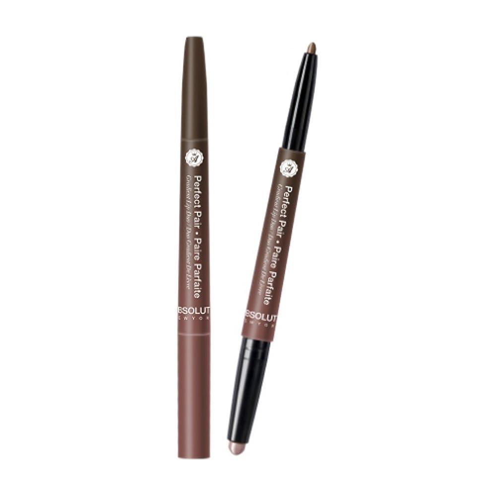 あえぎたるみ葉を拾う(3 Pack) ABSOLUTE Perfect Pair Lip Duo - Malted Chai (並行輸入品)