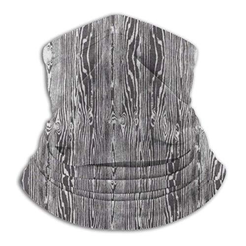Mathillda Fleece Halswarmer met houtpatroon - omkeerbare halsmanchetbuis, veelzijdige oorwarmer-hoofdband