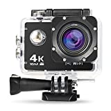 NexGadget Action Kamera 4K WiFi Ultra Full HD 16MP IP68 wasserdichte Sports Actioncam Helmkamera...
