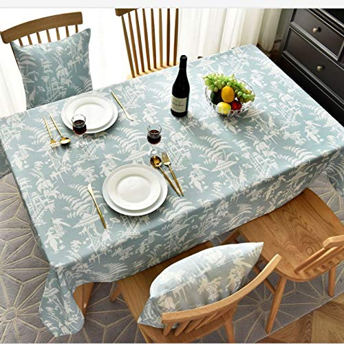 WSJIABIN Home Decor Nordic Style Tablecloth Simple Waterproof and Oilproof Restaurant Hotel Home Round Tablecloth