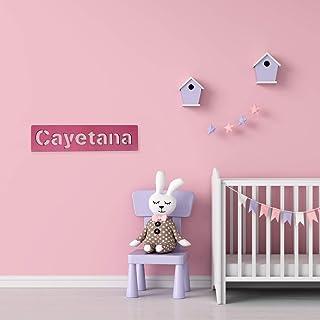 Nombres en madera Decorativos • Nombres Personalizados para pared, Nombres para bebés, Regalo personalizado • 25 cm | 35 c...